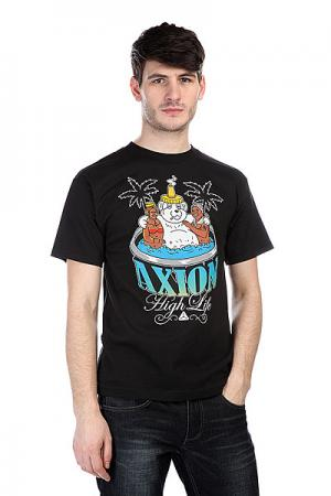 Футболка  Hot Tub Bear Tee Black Axion. Цвет: черный