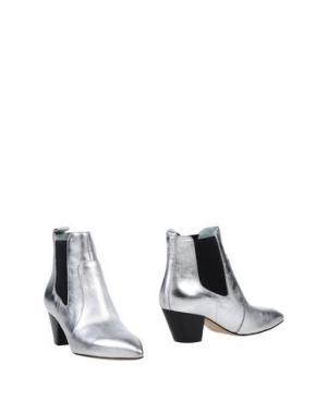 Полусапоги и высокие ботинки MARC JACOBS. Цвет: серебристый
