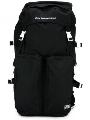Рюкзак с карманами White Mountaineering. Цвет: чёрный