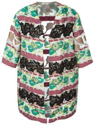 Платье с кружевными деталями Antonio Marras. Цвет: многоцветный