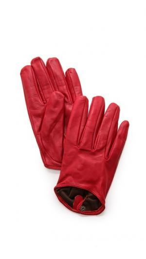 Короткие кожаные перчатки Carolina Amato
