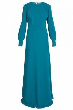 Строгое платье в пол VIA TORRIANI 88. Цвет: зеленый