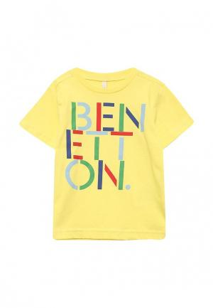 Футболка United Colors of Benetton. Цвет: желтый
