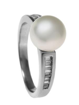 Кольцо Infiniti. Цвет: серебристый, белый
