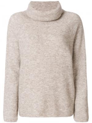 Свободный свитер с высокой горловиной Mes Demoiselles. Цвет: телесный