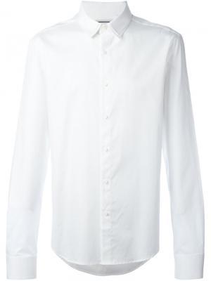Классическая рубашка на пуговицах Wooyoungmi. Цвет: белый