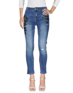 Джинсовые брюки DESIGUAL. Цвет: синий