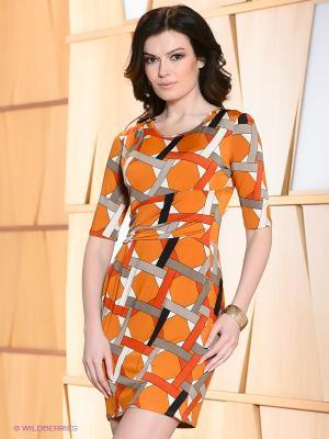 Платье Hammond. Цвет: оранжевый