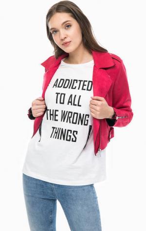 Куртка косуха цвета фуксии ONLY. Цвет: фуксия