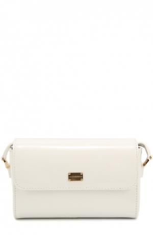 Сумка из лаковой кожи Dolce & Gabbana. Цвет: белый