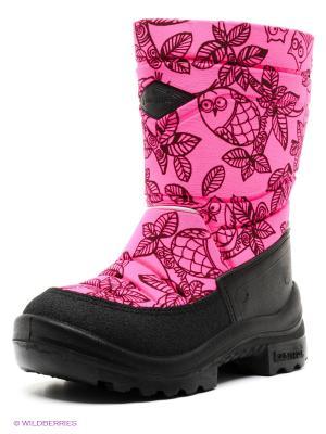 Полусапожки KUOMA. Цвет: розовый, черный, фиолетовый