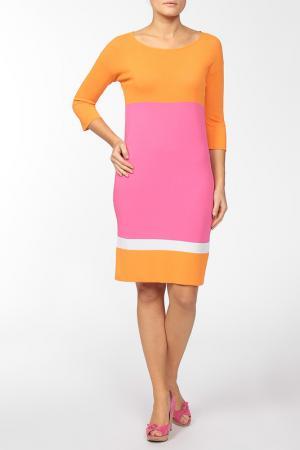 Платье Luisa Spagnoli. Цвет: розовый