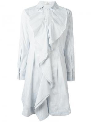 Платье Sensitive Volume Dorothee Schumacher. Цвет: синий