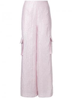 Брюки карго Magnolia Bambah. Цвет: розовый и фиолетовый