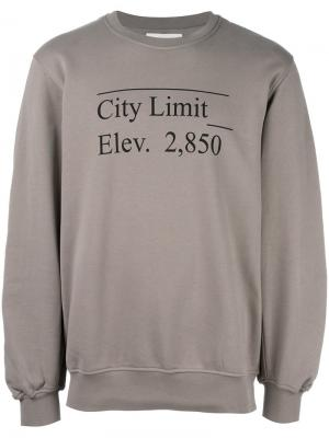 Толстовка с принтом City Limit Public School. Цвет: серый
