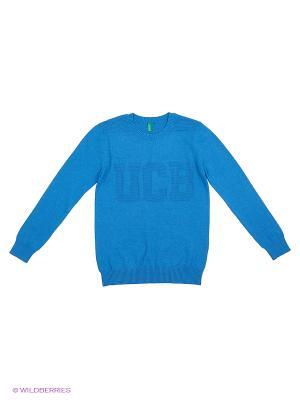 Джемпер United Colors of Benetton. Цвет: лазурный