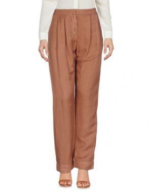 Повседневные брюки IVORIES. Цвет: светло-коричневый