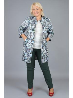 Пальто NadiN. Цвет: голубой, светло-серый