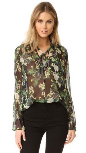 Блуза с цветочным Abby Marissa Webb. Цвет: азалия