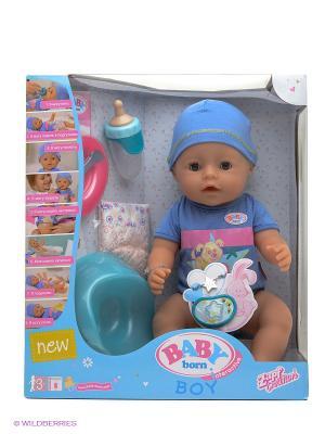 Игрушка BABY born Кукла-мальчик Интерактивная ZAPF. Цвет: голубой