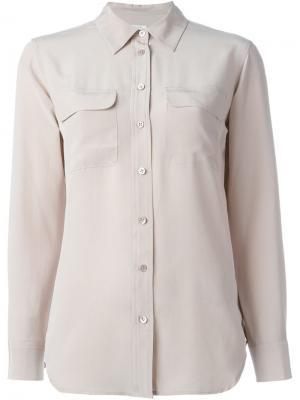 Рубашка с карманом Equipment. Цвет: розовый и фиолетовый