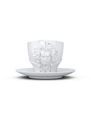Чайная пара Бетховен Tassen. Цвет: белый