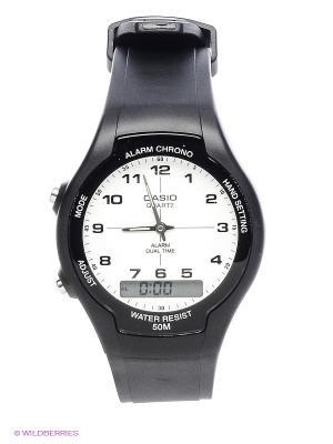 Часы Casio AW-90H-7B. Цвет: белый, черный
