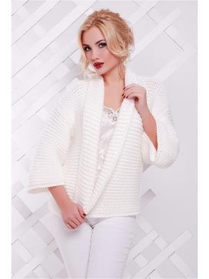 Кардиган Fashion Up. Цвет: белый