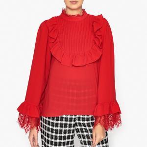 Блузка с манишкой SISTER JANE. Цвет: красный