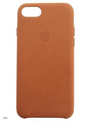 Кожаный чехол для iPhone 7 Apple. Цвет: коричневый