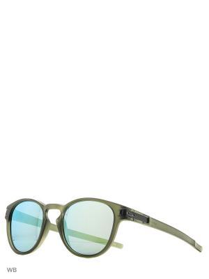 Очки солнцезащитные OAKLEY. Цвет: зеленый, серый