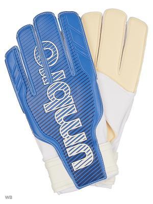Вратарские перчатки Umbro. Цвет: синий, белый, темно-синий