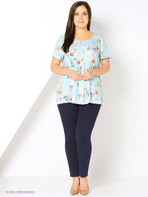 Блузка SVESTA. Цвет: голубой