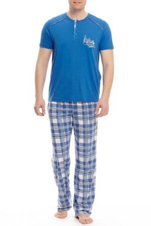Пижама с брюками Relax Mode. Цвет: мультицвет
