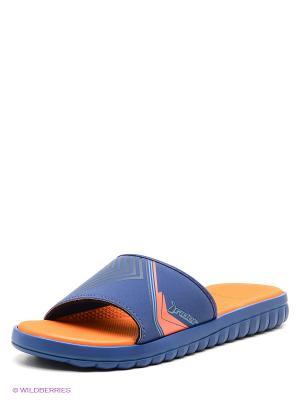 Пантолеты Rider. Цвет: синий, оранжевый