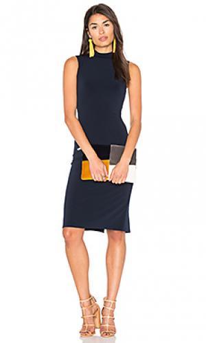 Платье миди shai Velvet by Graham & Spencer. Цвет: синий