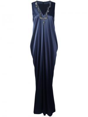 Платье Lowca Talbot Runhof. Цвет: синий
