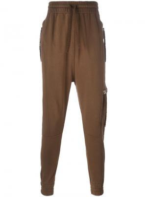 Спортивные брюки Rust Blood Brother. Цвет: коричневый