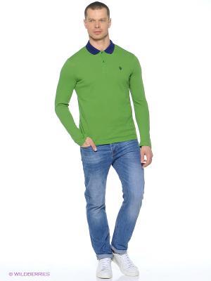 Лонгслив U.S. Polo Assn.. Цвет: зеленый