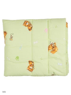 Одеяло детское шатель синтепон Ивбэби. Цвет: салатовый