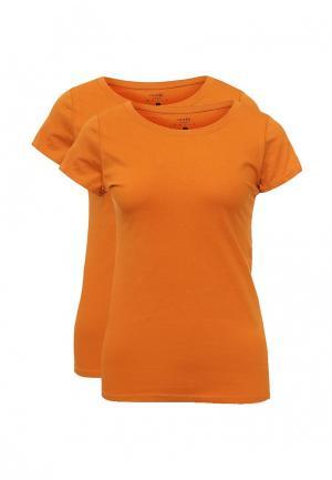 Комплект футболок 2 шт. oodji. Цвет: оранжевый