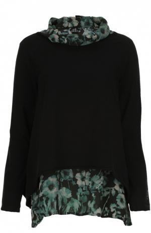 Пуловер джерси с топом Deha. Цвет: зеленый