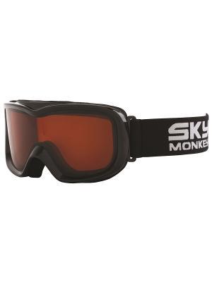 Маска сноубордическая детская Sky Monkey JR11 OR. Цвет: черный