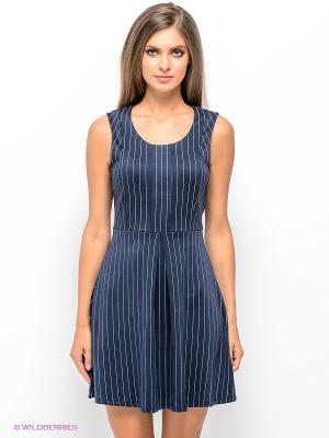 Платье Vero moda. Цвет: темно-синий