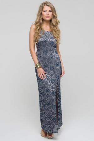 Платье Gloss. Цвет: синий, капучино