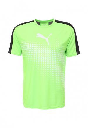 Футболка спортивная Puma. Цвет: зеленый
