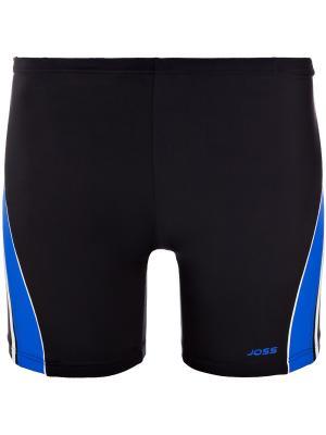 Плавки JOSS. Цвет: черный, голубой