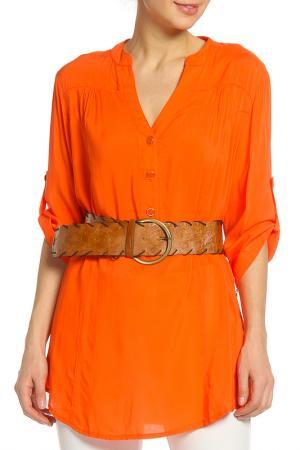 Блузка Sandro. Цвет: оранжевый