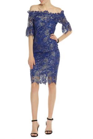 Платье PAPER DOLLS. Цвет: blue, silver