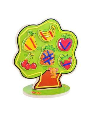 Шнуровка Дерево Винтик и Шпунтик. Цвет: зеленый